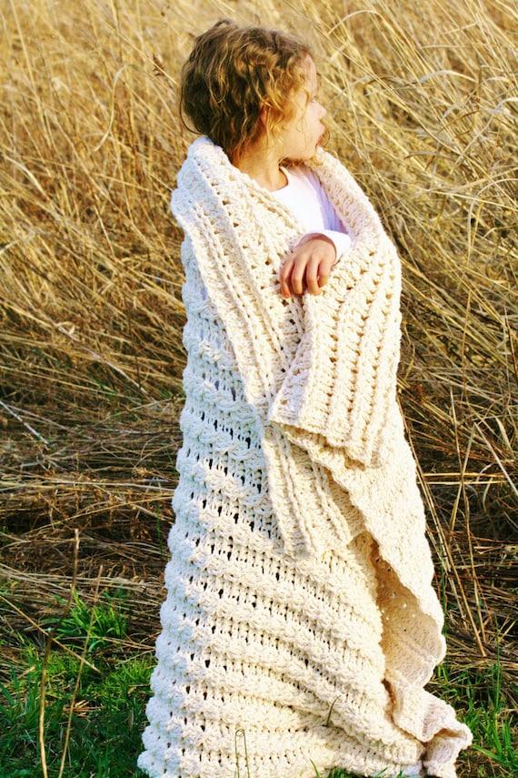 Häkeln Sie Muster die Nancy Afghan Decke Muster werfen