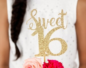 ON SALE Sweet 16 Cake Topper