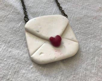 Valentine Note Necklace