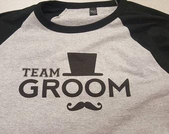 Bachelor Stag Party TEAM GROOM Baseball Shirts