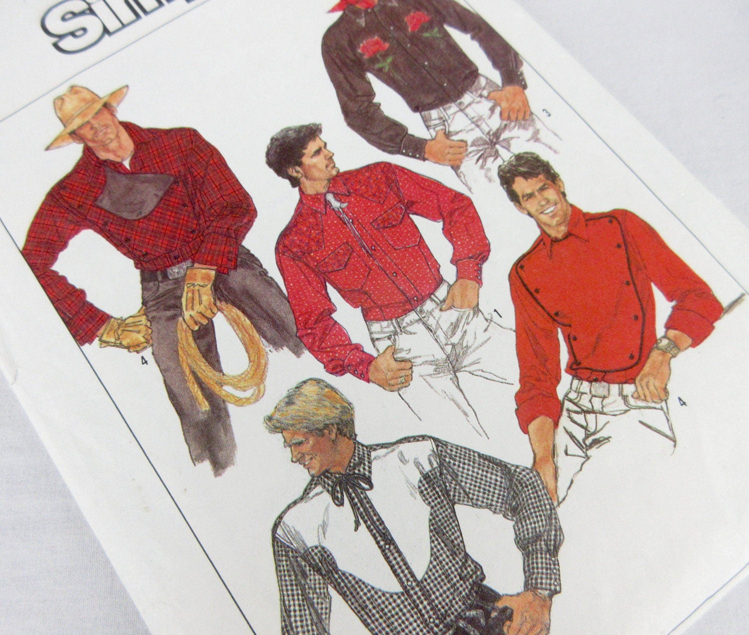 Vintage 80s mens western shirt sewing pattern simplicity 8473 vintage 80s mens western shirt sewing pattern simplicity 8473 jeuxipadfo Images