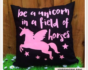 Unicorn Quote Cushion Cover