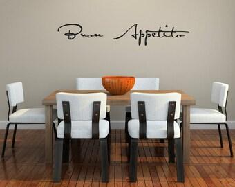 Buon Appetito Script Vinyl Wall Decal (small)