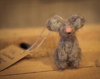 Needle Felted Mouse Ornament