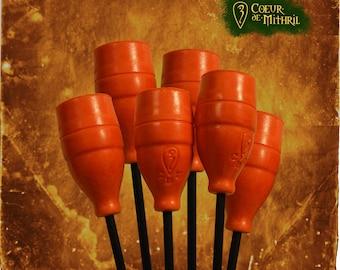 6 orange larp arrows
