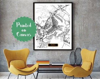 BRASILIA Brazil CANVAS Large Art City Map Brasília Brazil Art Print poster map art jt JackTravelMap