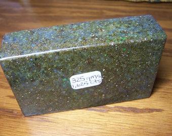 Hot Blue-Green Louisiana Opal Brick ~ Huge ~ High Quality Gem Grade !