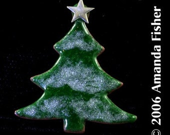 Winter Pine- Enameled Pin or Tie Tack