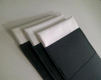 Men's 100% Silk Pocket Square  PreFolded Flat-Top  (ONE)