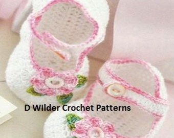 Crochet Booties Shoes PDF Pattern Instant Download