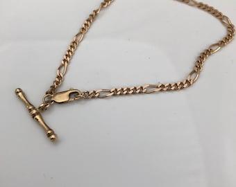 Vintage ~ T Bar Bracelet ~ 9ct 9K Gold.