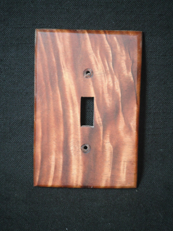 Wood Switch Plate Covers Handmade Hawaiian Koa Wood Light Switch Cover Plate