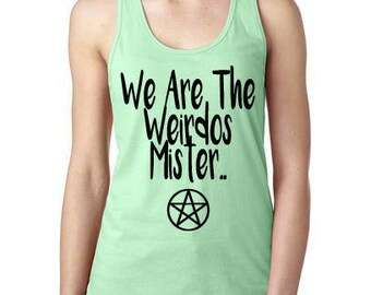 The Craft We Are The Weirdos Mister Womens Tank Top, Pentagram womens tanktop, Witchcraft tanktop, The Craft Shirt, christmas gift for her