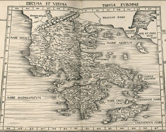 Poster, Many Sizes Available; Ptolemy Map Of Greece 2Nd Century