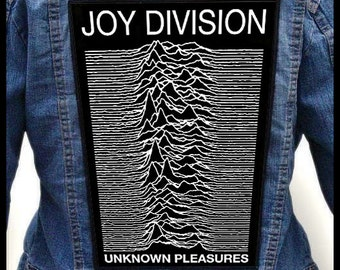 JOY DIVISION - Unknown Pleasures --- Backpatch Back Patch / New Order The Cure Depeche Mode Talking Heads The Stone Roses Buzzcocks