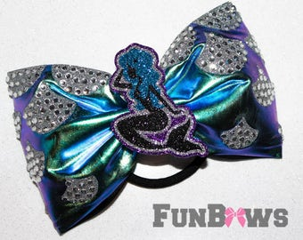 Gorgeous New Rhinestone Tail-less Mermaid Cheerleading Allstar bow by FunBows ! Check out our entire new Mermaid collection !