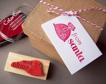 From Santa Rubber Stamp - Make Christmas Tags - Santa Gifts - Secret Santa Gift Tags