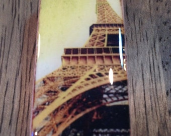 Eiffel Tower Pendant - Resin Topped Domino