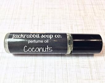 Coconuts Perfume Oil, Coconut Perfume, Roll On Perfume, Tropical Perfume Oil, Women's Perfume, Vegan Perfume, Summer Perfume Wedding