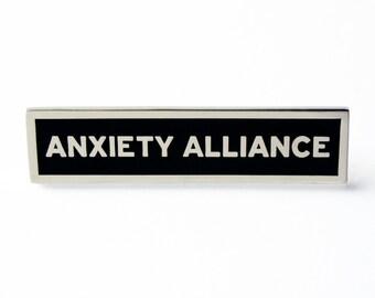 ANXIETY ALLIANCE - Enamel Lapel Pin