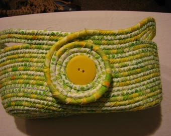 Coiled Rope Basket with handles