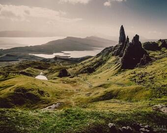 SKYE photography print,  Scottish Highlands landscape, 8x12