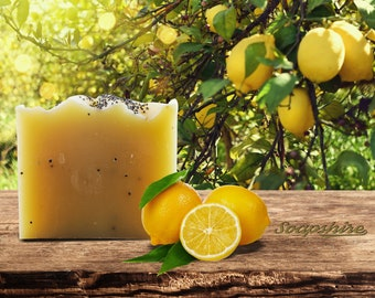Handmade Vegan Natural Soap - Lemon and Poppy Natural Pie Soap (20g, 100g, Promotion, Wholesale)