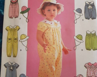 Simplicity 9205, Toddlers' Romper and Hat sewing pattern