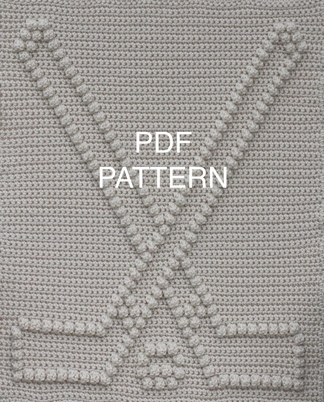 Hockey Baby Blanket Pattern - Crochet Pattern - Crochet Baby Blanket ...