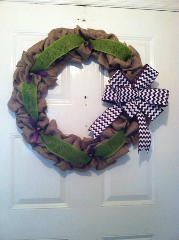 Everyday Burlap Wreath - Rustic Wedding Wreath - Front Door Wreath - Rustic Fall Wreath - Rustic Autumn Wreath - Rustic Home Decor - Gifts