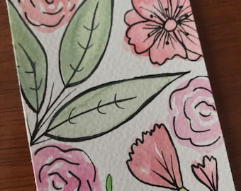 floral, bookmark
