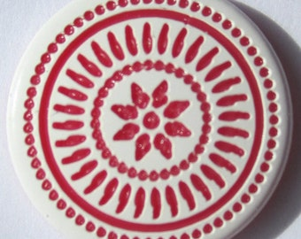 "BI COLOR ""mosaic"" pink x 10 engraved KAM snaps"