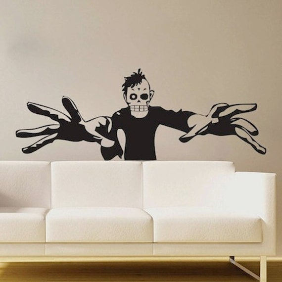 3d zombie decal halloween wall decals scary wall decals
