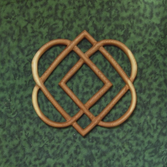 Celtic Knot Of Four Hearts Family Love Knot Wood Carving