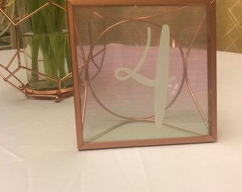 Umbra Arc Rose Gold Floating Picture Frame- 4x4