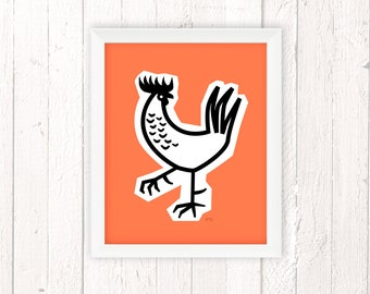 Rooster Decor, Chicken Art, Rooster Kitchen Decor, French Country