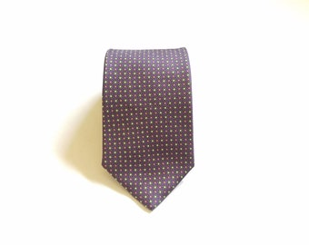 Vintage 346 Brooks Brothers Flower Print Necktie Silk Tie Dressy Fancy Classic Classy Hipster Wedding Style High Fashion Floral Suit and Tie