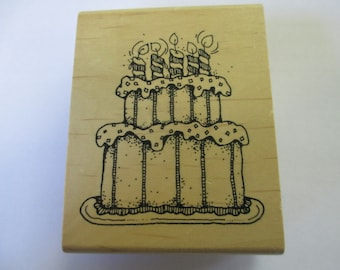 Rubber Stamps For Birthday cards  and scrapbooking  Slightly used good condition