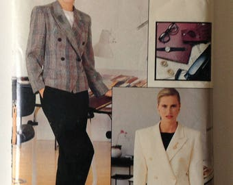 Vogue 7369 Ladies Jacket Skirt and Pants Vogue Career Size 12-14-16 Vintage 1988