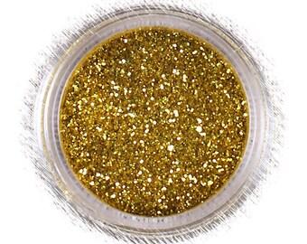 Nu Gold Disco Glitter, Bright Gold Disco Glitter, Non Edible Confectionary Glitter, Fondant Glitter, Gold Gumpaste Glitter (5g)