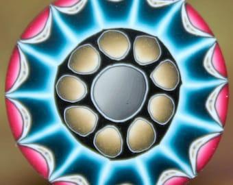 Polymer Clay Circle Cane -'Night Owl' series (43A)