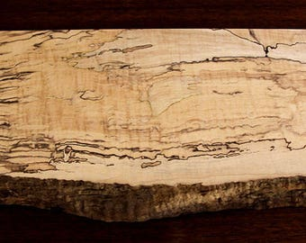 "Spalted Maple Chopping Block, 22-1/4"" by 8-1/2"" by 1-3/8"" thick"