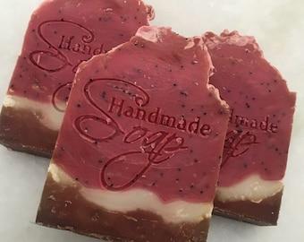 Watermelon Cold Process SHEA Soap|Natural Soap|Handmade Pretty Soap|Fragrant Soap|Metropolitan Soap|Vegetable-Based Soap|Cruelty Free