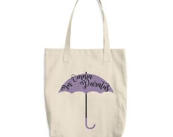 In Omnia Paratus Cotton Tote Bag