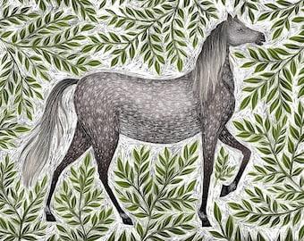 Horse A5 Print
