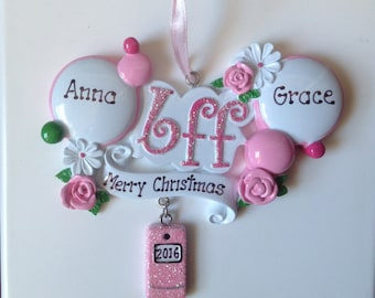 33% Off- Personalized Best Friends, BFFs Bridesmaid   Christmas Ornament
