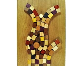 Wood Mosaic Wall Decor