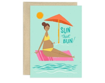 Sun that Bun Illustrated Greeting Card