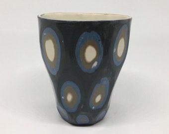 Carved porcelain cup