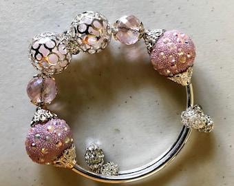 Ballet Slipper memory wire bracelet